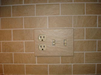 Magnetic ceramic tripple electrical light switch cover plate
