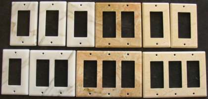 Custom marble electrical switch and outlet cover plates