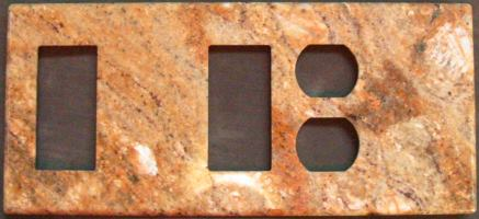 Custom 5 gang magnetic granite switchplate, DBDRB