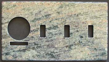 Custom granite switch plate