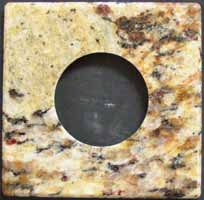 Granite dryer outlet cover plate