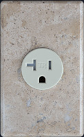 Marble outlet cover plate