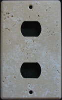 Tumbled travertine despard switch plate
