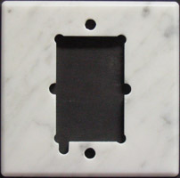 Marble thermostat wall plate