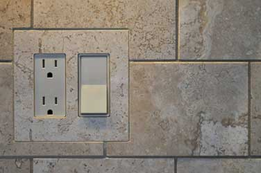Tiled in double decora switch cover plate