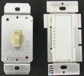 Electronic dimmer switches