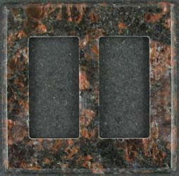Tan Brown granite switchplate