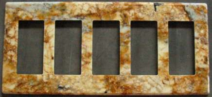 Magnetic granite switch cover plate
