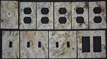 Granite switch cover plates outlet covers