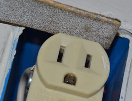 Sanding the duplex receptacle