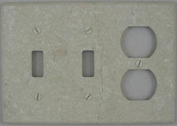 Botticino tumbled marble switch plate cover