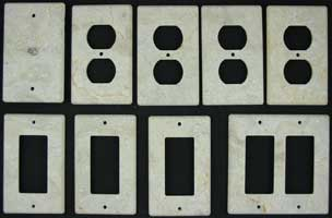 Honed Marble switchplates
