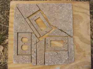 Travertine cover plates