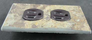Natural cleft slate outlet cover