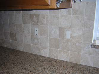 Tiled in single gang decora cover plates