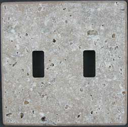 Noce Tumbled Travertine switchplate