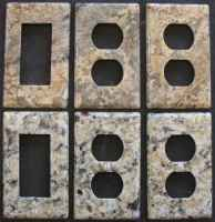 Granite electrical outlet and switch cover plates